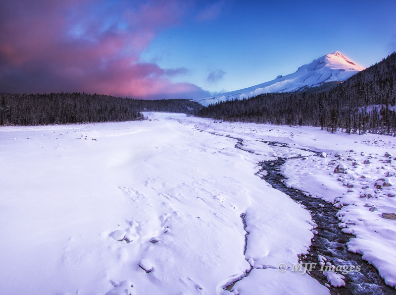 Are you tired of seeing Mount Hood covered in snow yet?