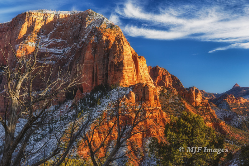 The Hurricane Cliffs 'break' down off the Colorado Plateau here at Kolob Canyons, part of Zion National Park, Utah.