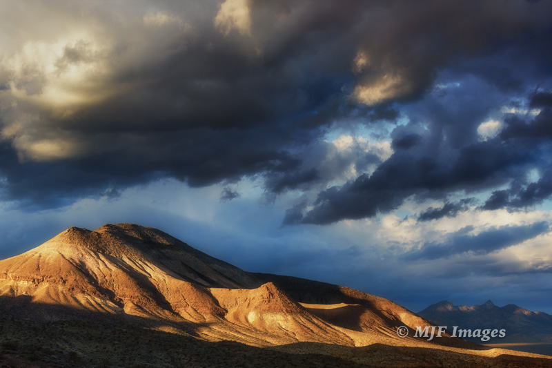 No polarizer required for this image of the desert mountains near Beatty, Nevada.