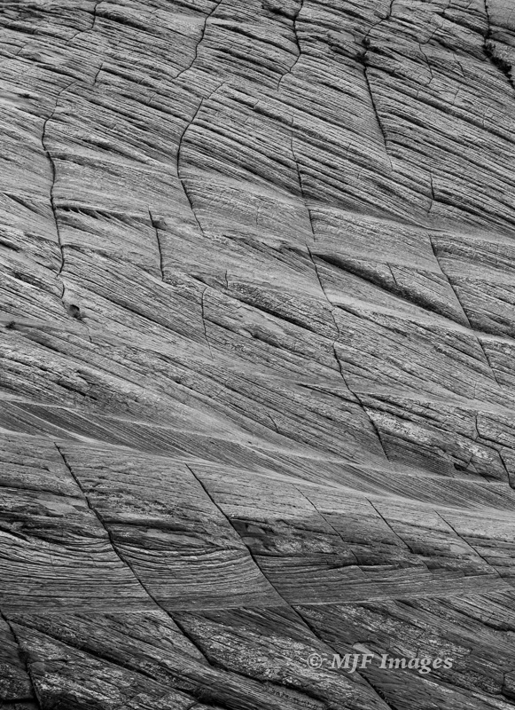 Sandstone detail on Checkerboard Mesa, East Zion.