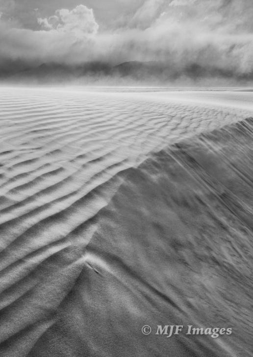 Owen's Valley, California in a sandstorm.