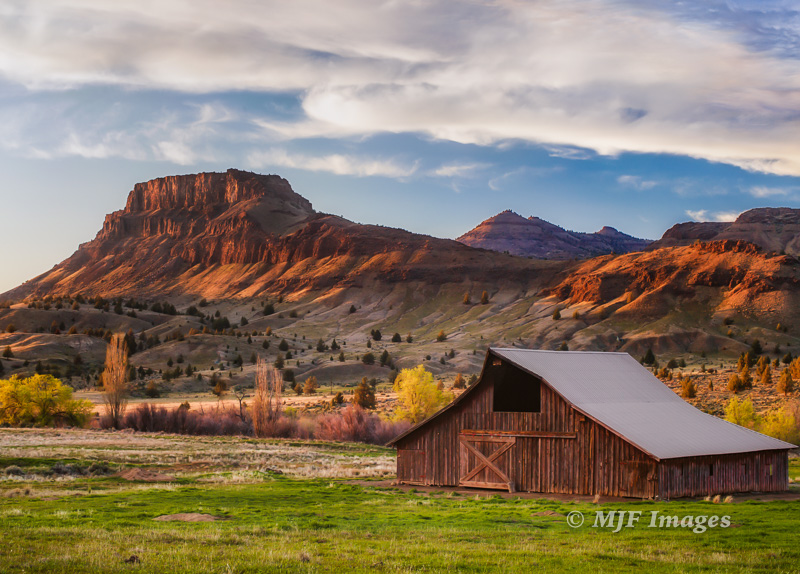 Recent image of a barn along Oregon's John Day River.  50 mm., 1/5 sec. @ f/11, ISO 100; tripod.