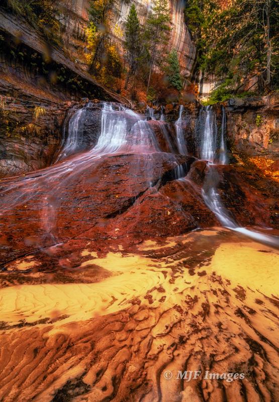 A cascade on Left Fork of North Creek, Zion National Park, Utah.