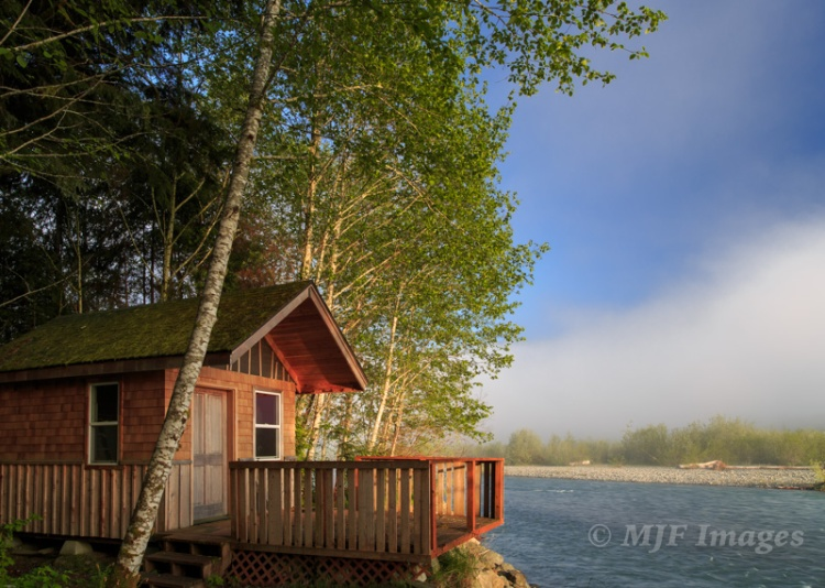A fishing cabin along the Quinalt River, on my recent trip up to the wonderful Olympic Peninsula.