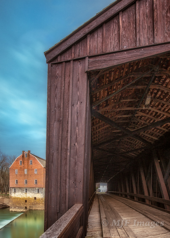 While in the middle U.S. I wanted an image of a covered bridge or other historic architecture, but with a different composition. This one at Bollinger Mill, Missouri, fit the bill.
