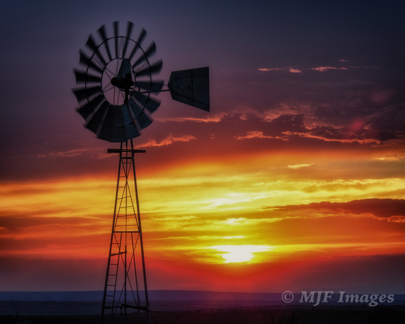 A recent sunset somewhere in New Mexico.