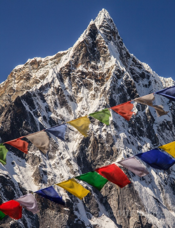 A bit of a cliche, but prayer flags and the Himalaya are just too big a part of the scene in Nepal to pass up.