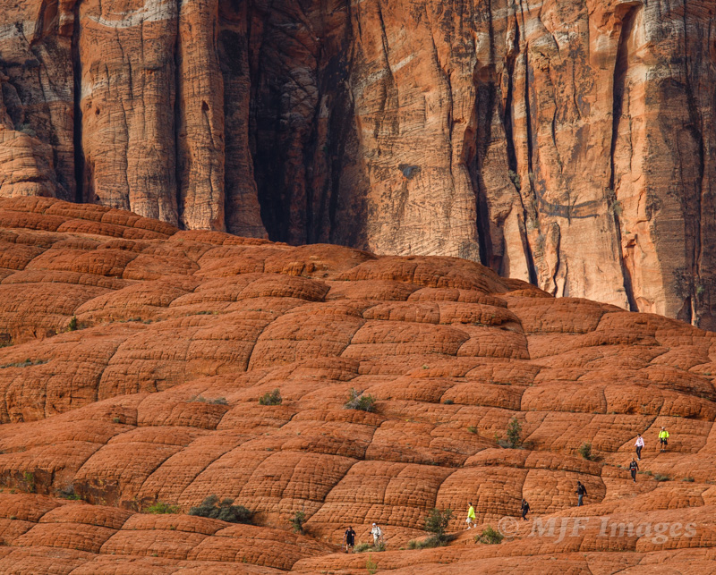 "While shooting landscape in southern Utah, some hikers ""rudely"" inserted themselves into my photo. The nerve!"