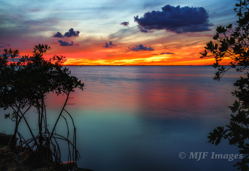A recent sunset, Indian River, Florida.