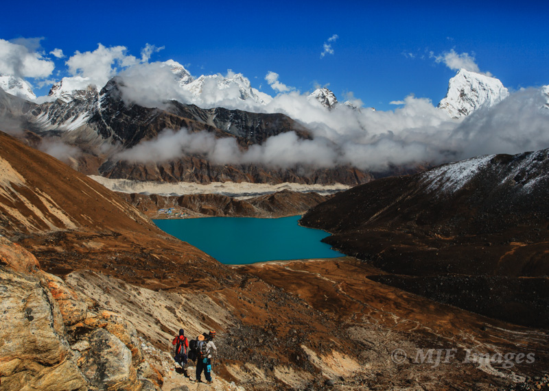 The path down to Gokyo Ri, Nepal.